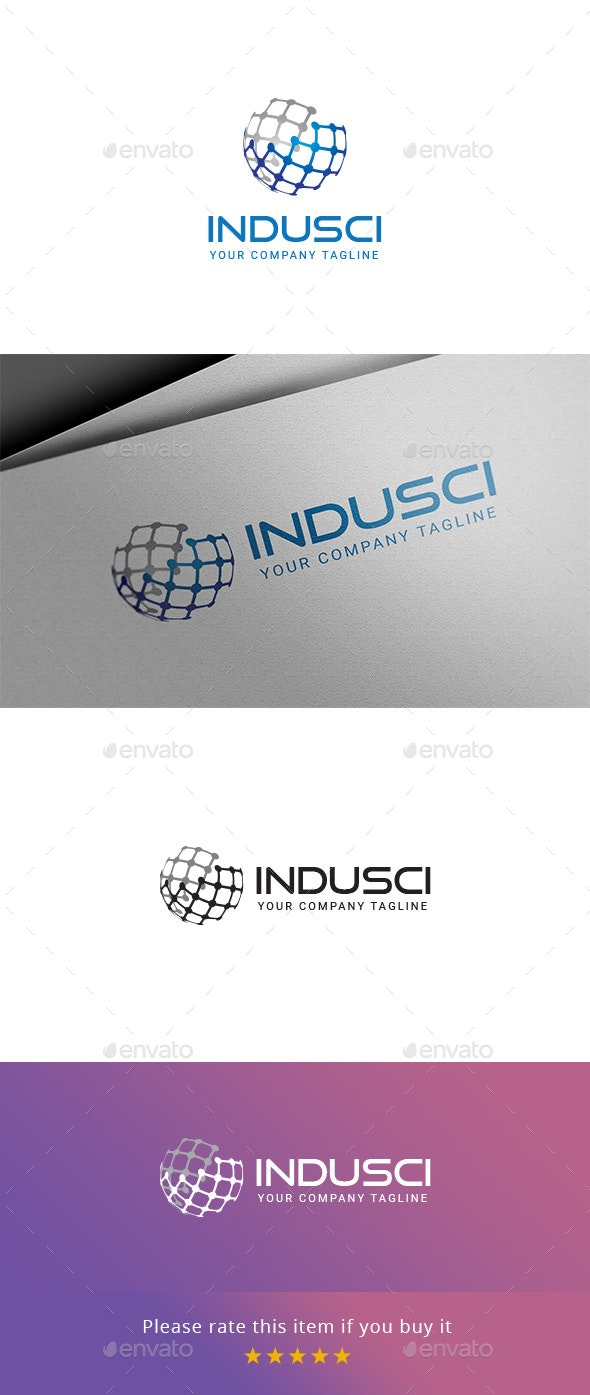 INDUSCI - Industry & Science Logo - Company Logo Templates