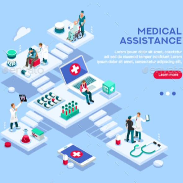 Medical Assitance Concept Vector