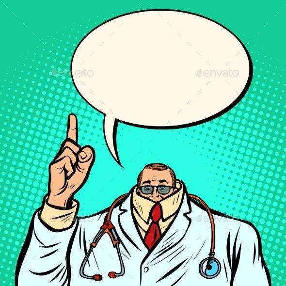 Cowardly Male Doctor. Medicine and Health - Health/Medicine Conceptual