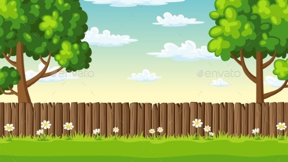 Summer Landscape With Fence - Landscapes Nature