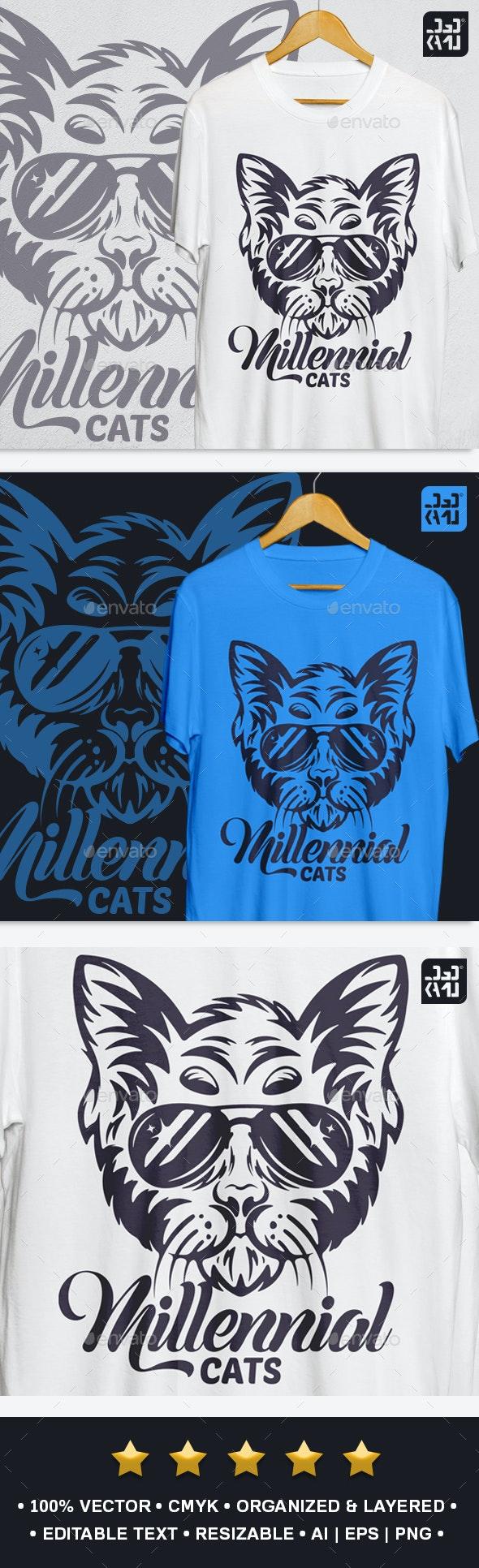 Millennial Cats T-Shirt - Funny Designs