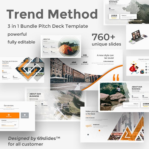 3 in 1 Trend Method Pitch Deck  Bundle Google Slide