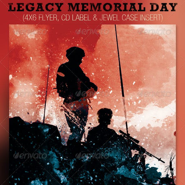 Legacy Memorial Day Flyer and CD Template