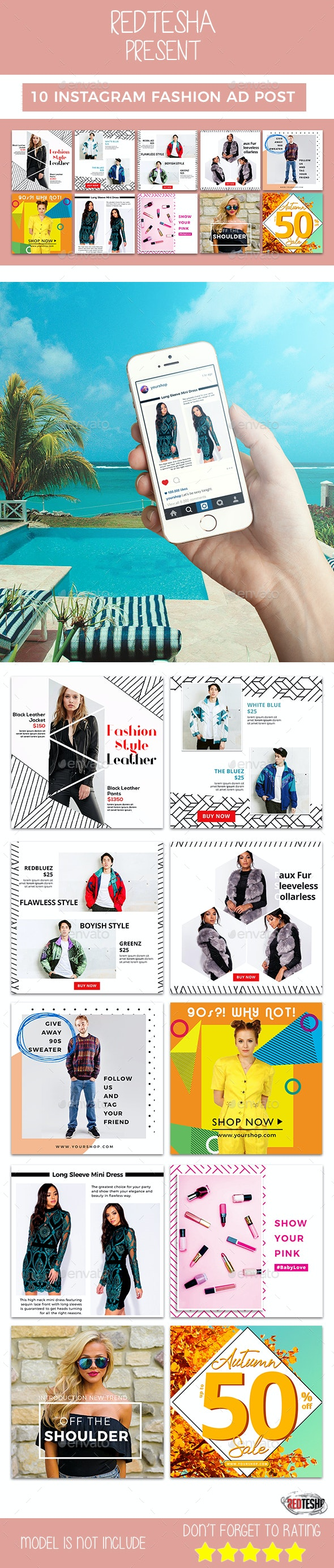 Instagram Fashion Banner #16 - Banners & Ads Web Elements