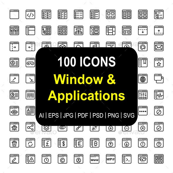 Windows & Application - Icons