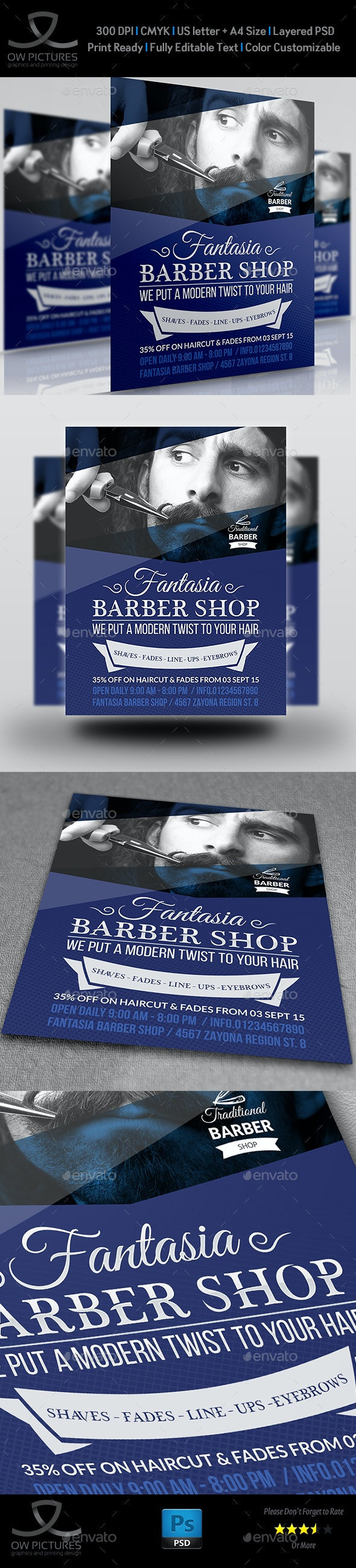 Barber Shop Flyer Template Vol.2 - Flyers Print Templates