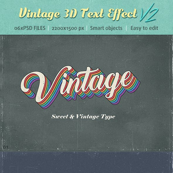 Vintage Text Effects V2