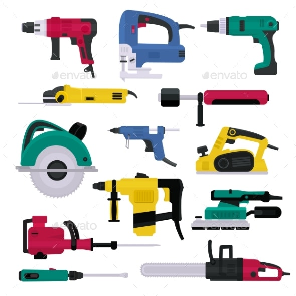 Power Tools Vector - Industries Business