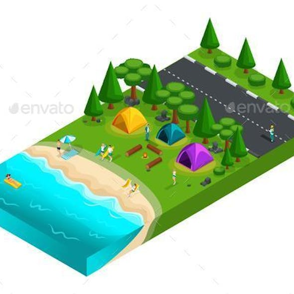 Isometric Camping