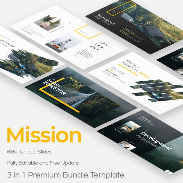 Mission Creative 3 in 1 Bundle Powerpoint Template