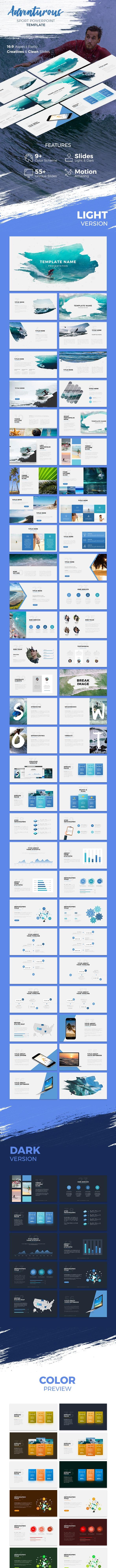 Adventurous - Brush Powerpoint Template - Creative PowerPoint Templates