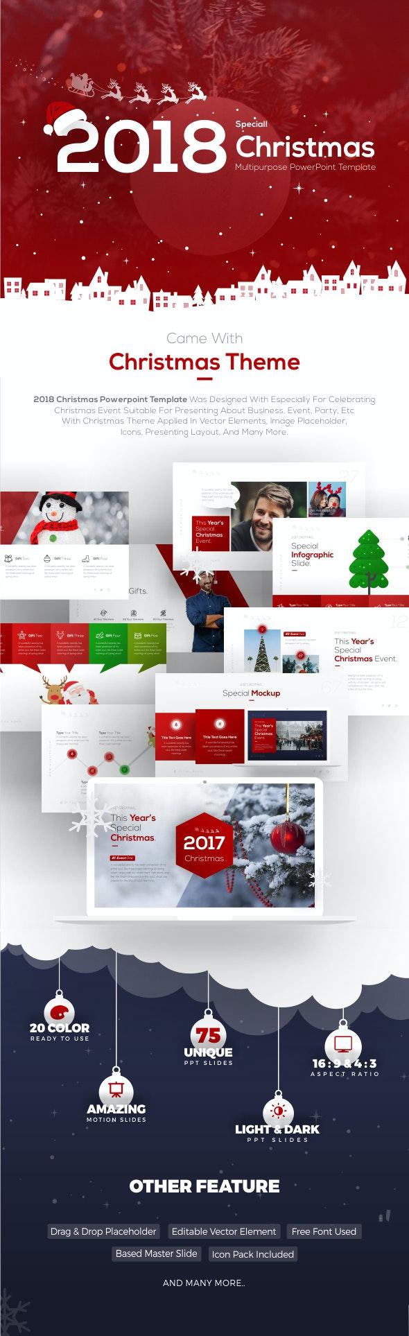 2018 Christmas Multipurpose Presentation Template - Business PowerPoint Templates