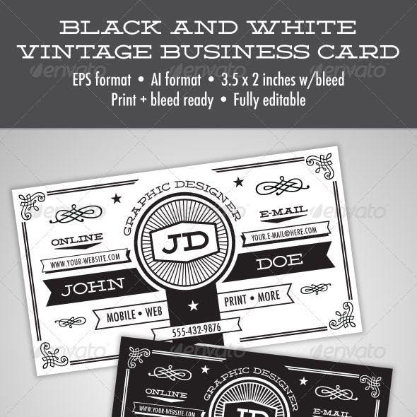Compre sua arte para Cartão de Visita Vintage preto e branco personalizado