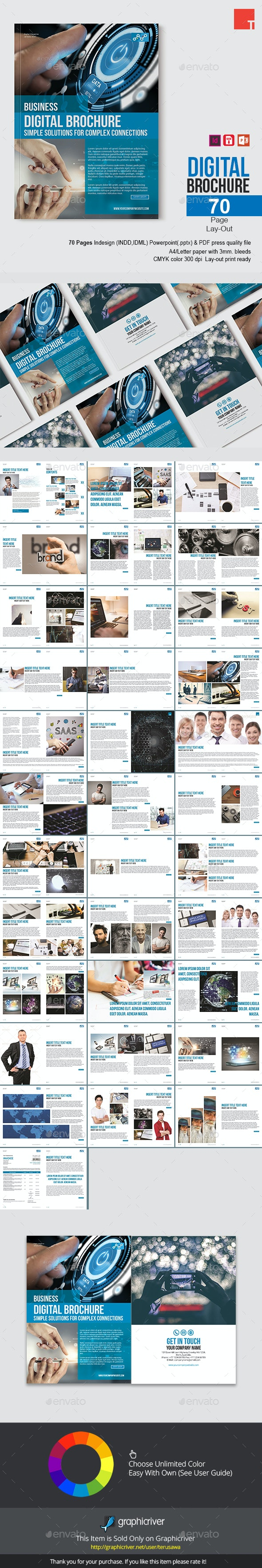Digital Brochure Template - Print Templates