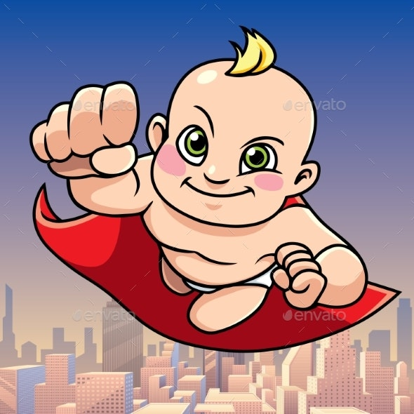 Super Baby City Background - People Characters