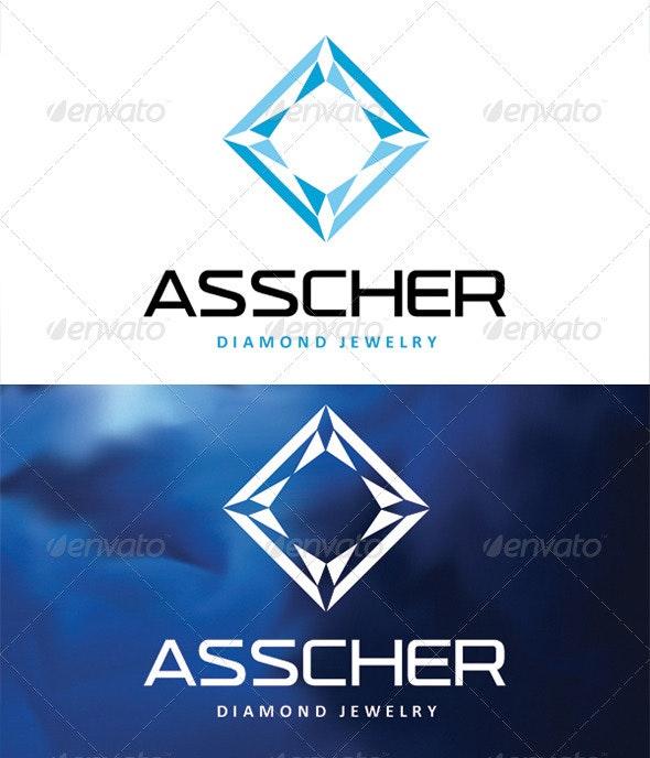 Asscher Diamond Jewelry - Logo Templates
