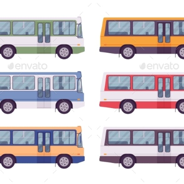 Bus Set in Bright Colors