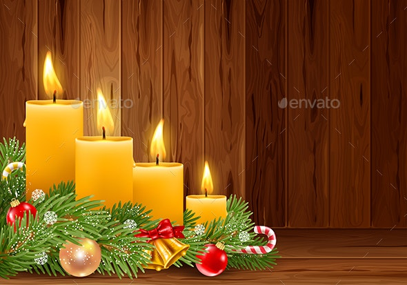 Christmas Candles - Christmas Seasons/Holidays
