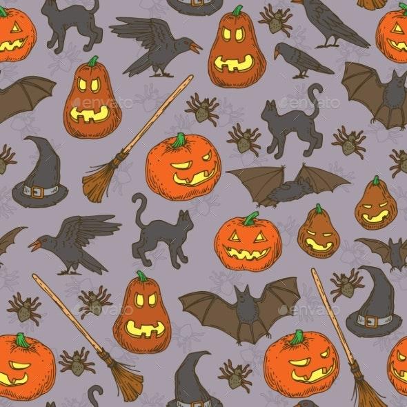 Halloween Seamless Pattern - Halloween Seasons/Holidays