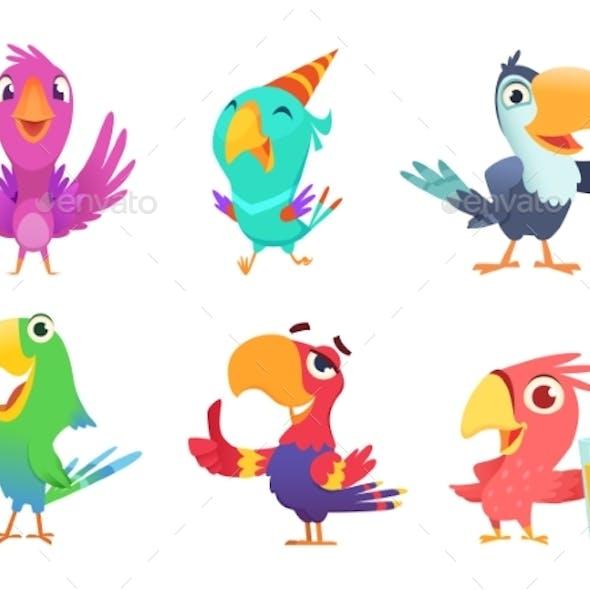 Cartoon Parrot Characters