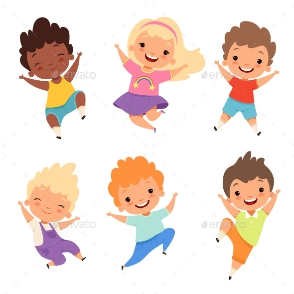 Jumping Kids - People Characters