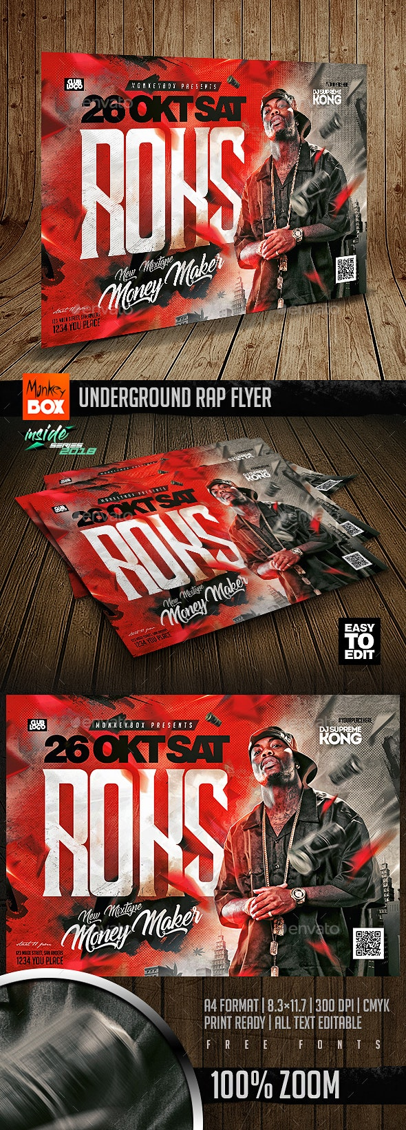 Underground Rap Flyer - Events Flyers