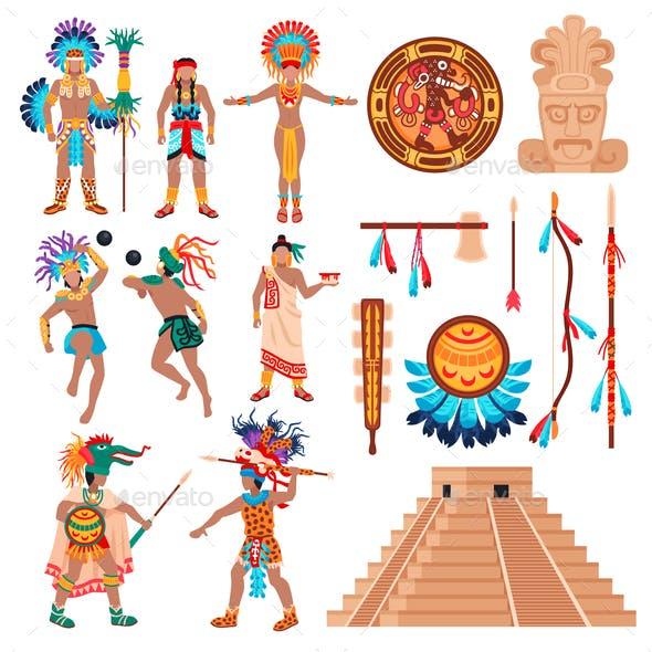 Maya Culture Elements Set