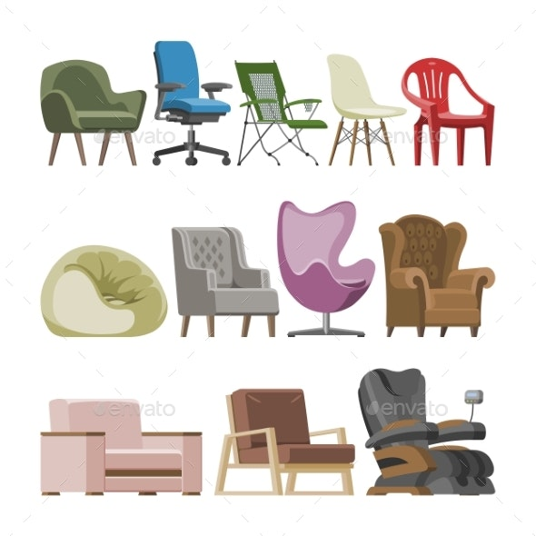 Chair Vectors - Man-made Objects Objects