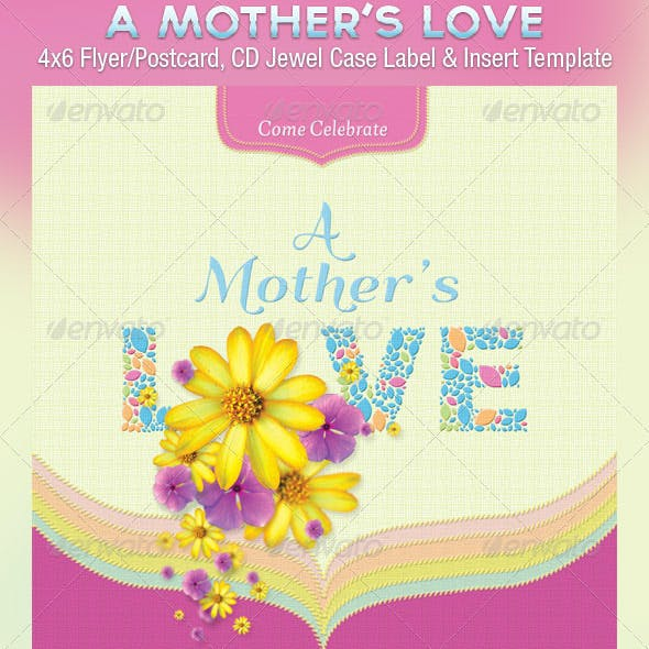 Mothers Love Flyer Postcard CD Template