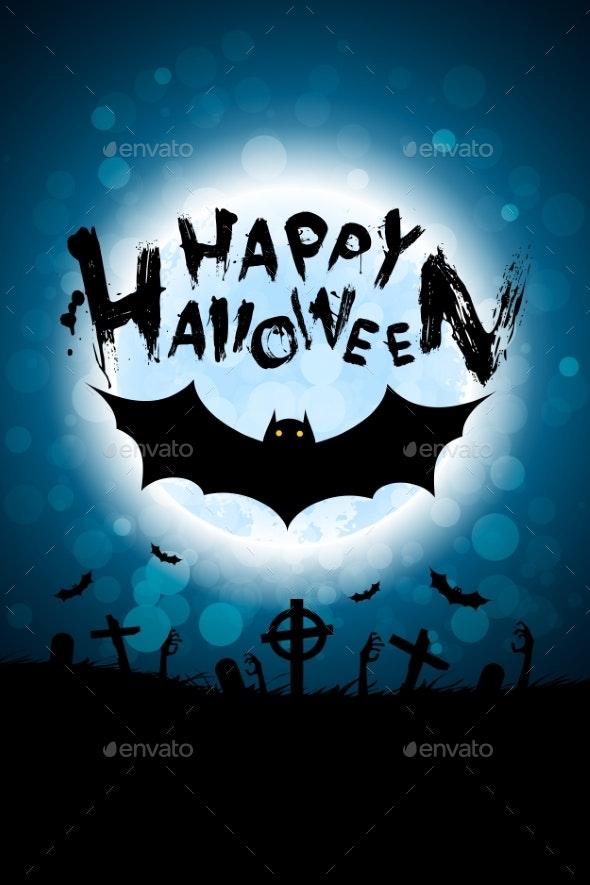 Halloween Background with Bat - Halloween Seasons/Holidays