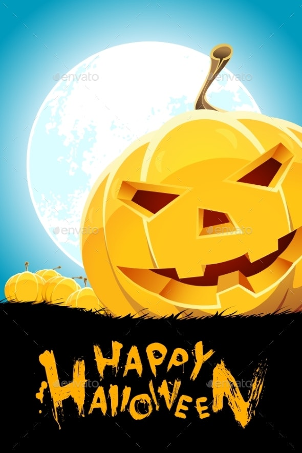 Halloween Background with Pumpkins - Backgrounds Decorative