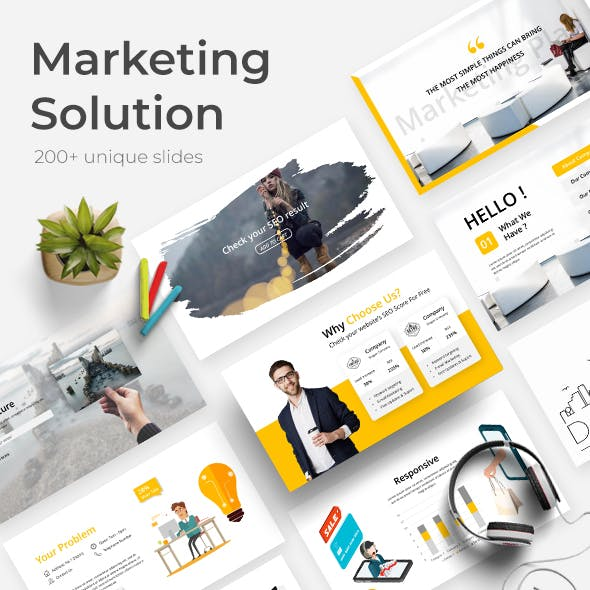 Marketing Solution - Business Google Slide Template