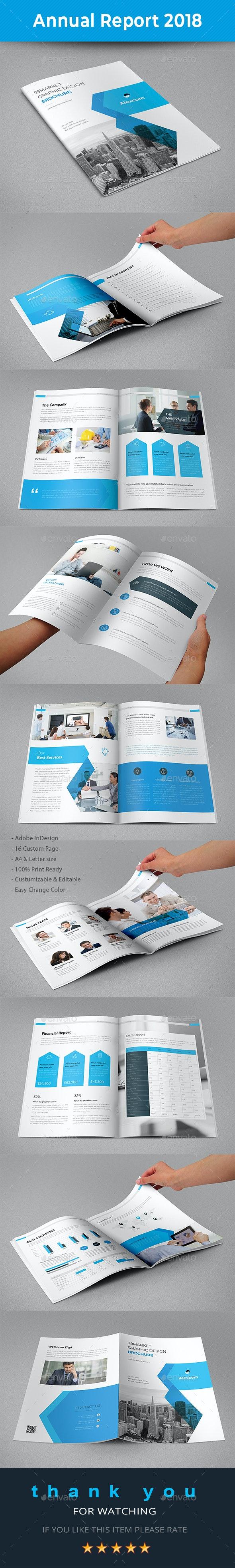 Annual Report 2018 - Brochures Print Templates