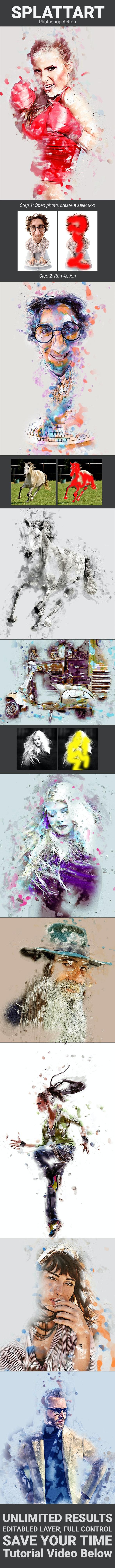Splattart - Photo Effects Actions