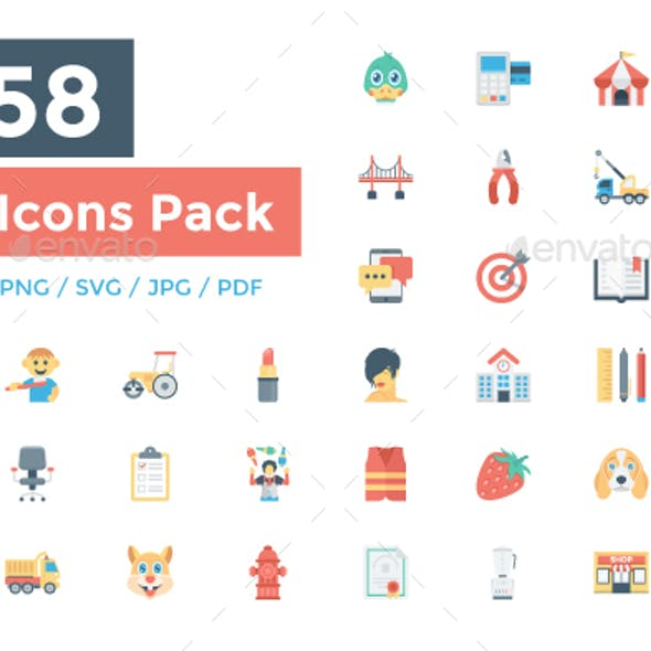 5158 Flat Icons Pack