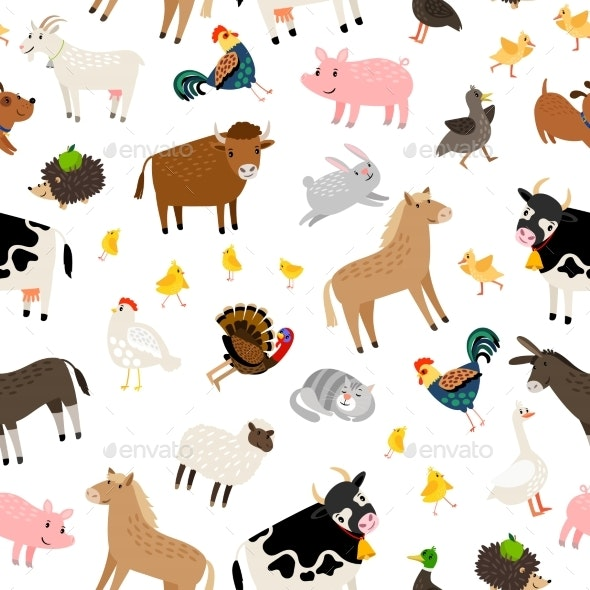 Farm Animals Pattern - Animals Characters