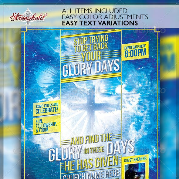 Glory Days Church Flyer Template