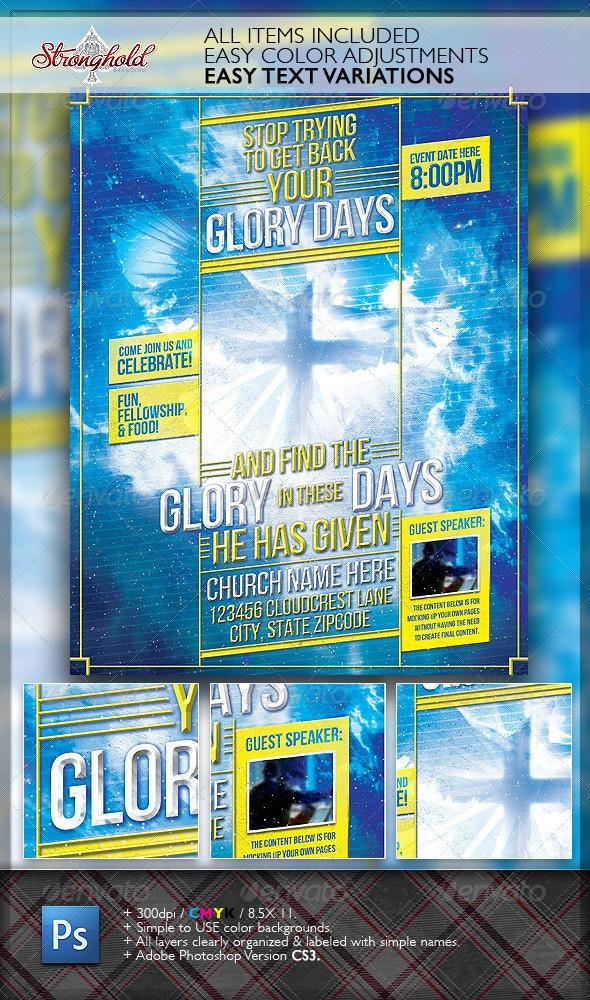 Glory Days Church Flyer Template - Church Flyers