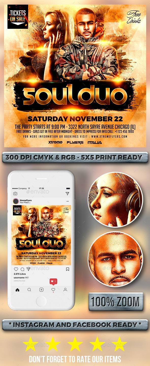DJ Duo Flyer - Clubs & Parties Events
