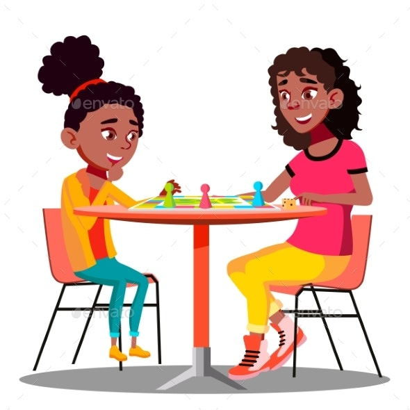 Mother and Daughter Playing a Board Game Together - People Characters