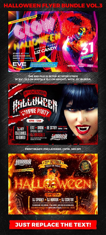 Halloween Party Flyer Bundle vol.3 - Holidays Events