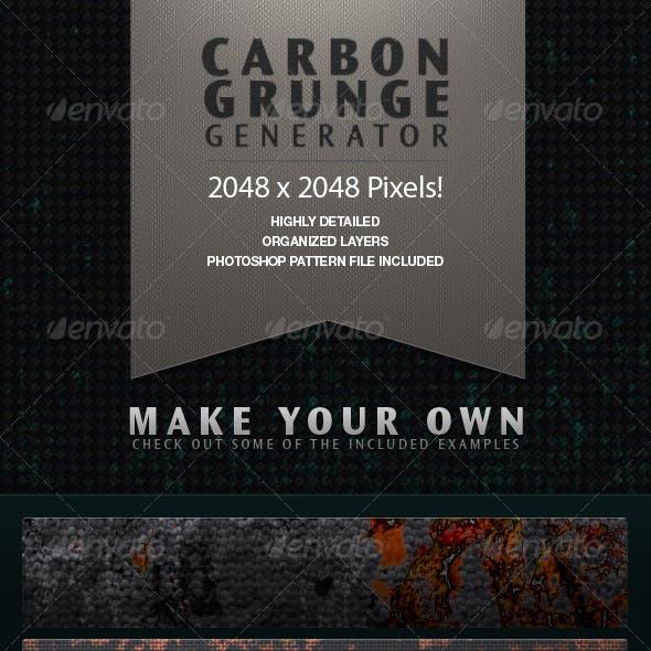 Carbon Grunge Background Texture Generator