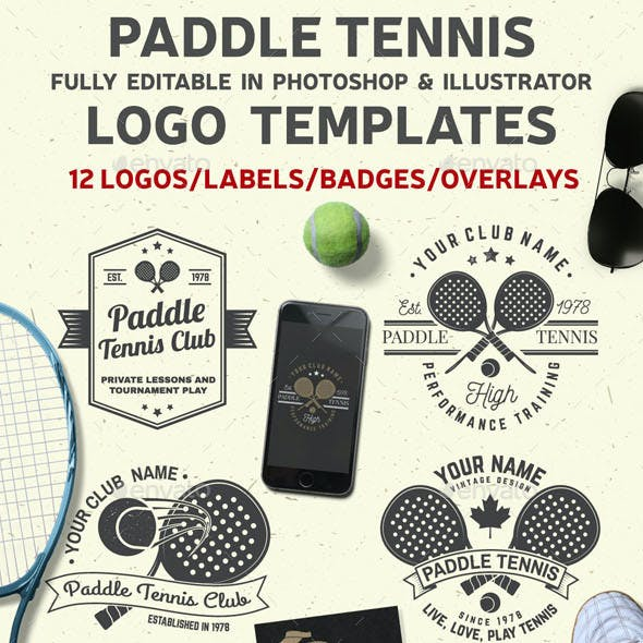 Paddle Tennis Club Badges