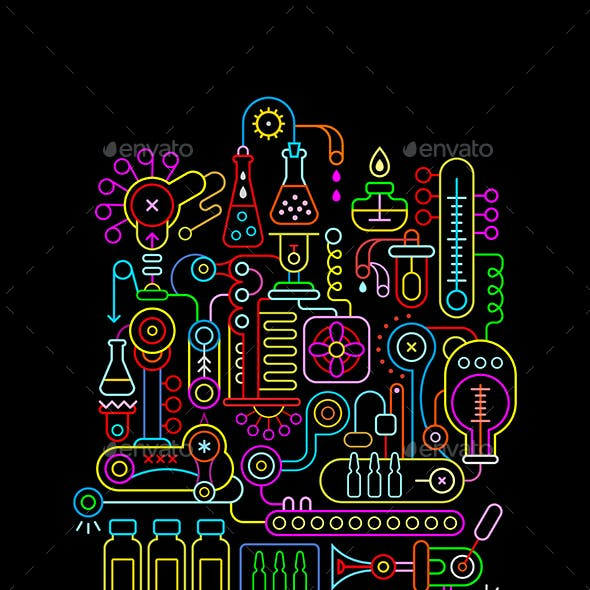 3 Research Laboratory Equipment Vector