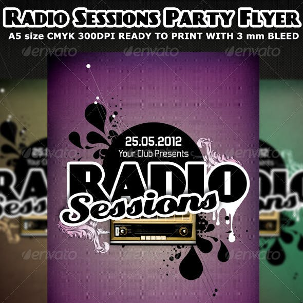 Radio Sessions Party Flyer Template