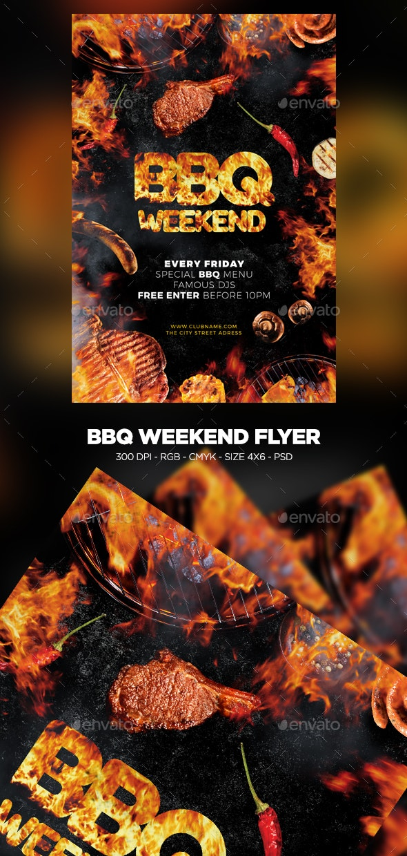 BBQ Weekend Flyer - Events Flyers