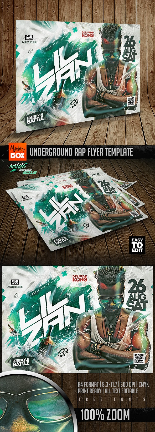 Underground Rap Flyer Template - Flyers Print Templates