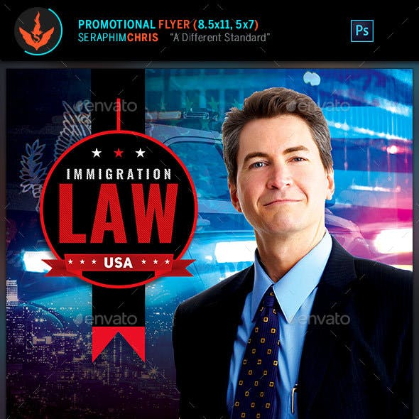 Immigration Law: Flyer Template