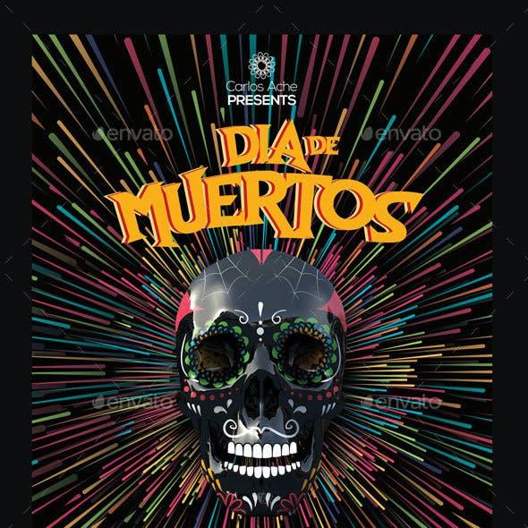 Dia de Muertos II Flyer and Poster Template