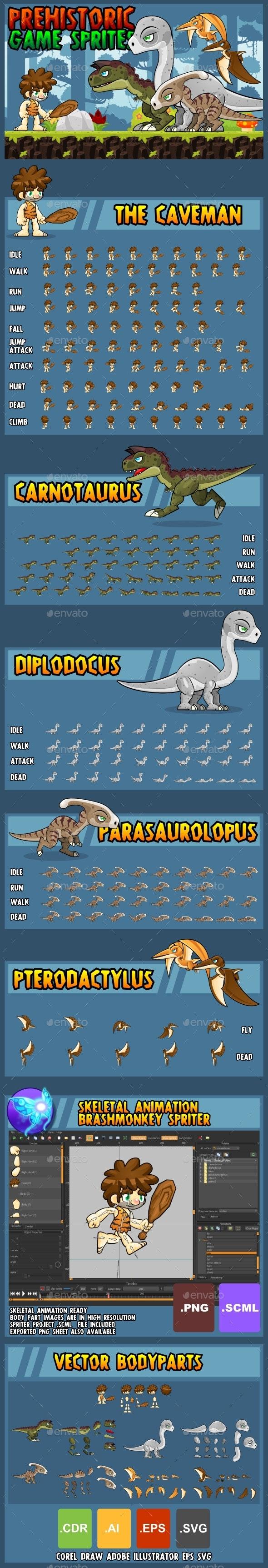 Prehistoric Game Assets - Sprites Game Assets
